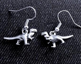 T-Rex Dinosaur Earrings