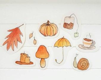 Original autumn sticker set