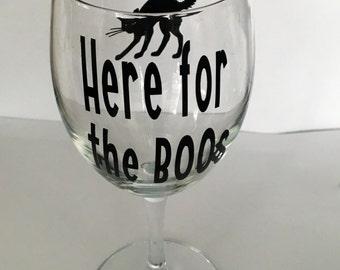 Halloween Wine Glass