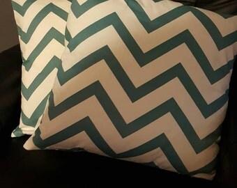 2 chevron decorative pillows