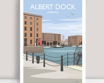Liverpool print, Albert Dock, Liverpool. Art Print/Poster. PLUS FREE POSTAGE!