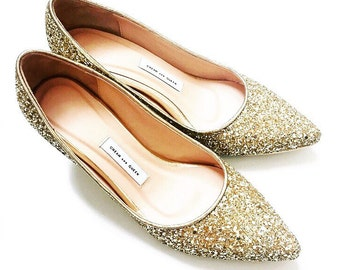 Gold Wedding Shoes Etsy