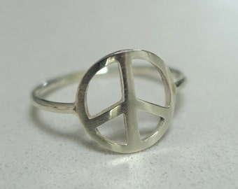 Peace Silver Ring
