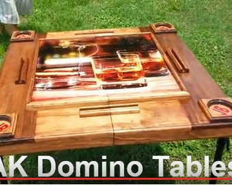 FOLDABLE Whiskey & Cigar Domino Table