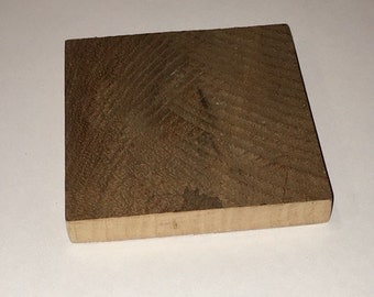 Set of four simple reclaimed wood coasters. Crafted from naturally weathered pallet lumber to bring a rustic charm to your dinner table or f