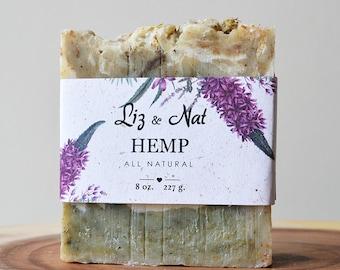 Organic Hemp Soap - All Natural Soap, Handmade Soap, Scented Soap, Hot Process Soap, Vegan Soap, Cruelty-Free Soap