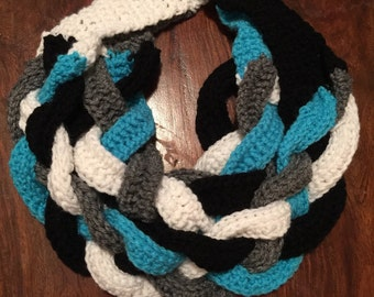 Multicolor sports themed scarves