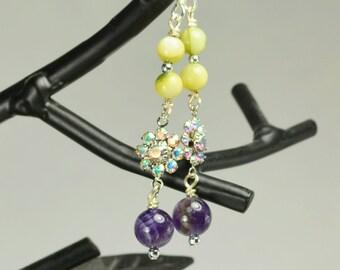 Amethyst Sparkle Earrings