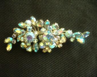 Vintage Triad brooch, Aurora Borealis