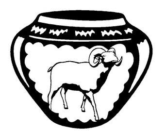 Ram Indian Pottery Wall Art