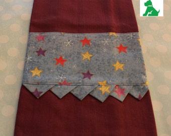 Christmas Prairie Point Woven Cotton Hand Towel