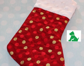 Christmas Stocking - Quilted LOWER PRICE