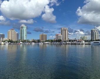 St Pete Florida Skyline Home Decor Landscape Photography
