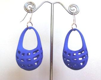 Poche - Blue 3D Printed Earrings