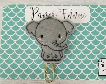 Elephant mascot planner clip paper clip
