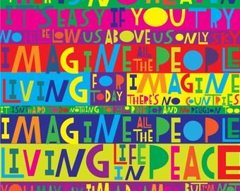 "LyricArt: John Lennon ""Imagine"" Signed & Numbered  16"" x 24""  Limited Edition Print"
