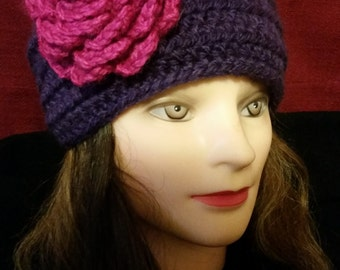 Handmade crochet wool headband