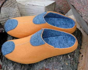 Felt slippers, slippers, felt slippers orange. 38-41 G