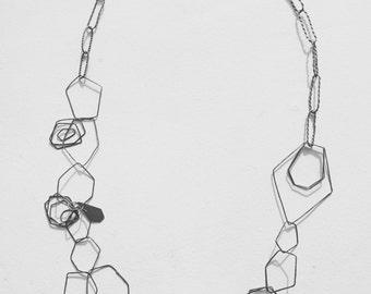 Gem Cluster Chain Necklace