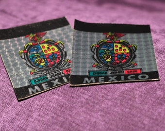 MEXICO Vintage 1980s Car Automobile Bumper Stickers Disco Ball Effect Bumper Stickers