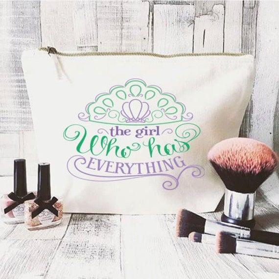 Personalised makeup bag large