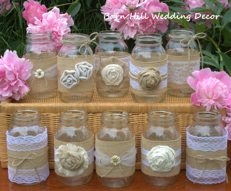 mason jars set of 10 quart size mason jars by barnhillweddingdecor. Black Bedroom Furniture Sets. Home Design Ideas