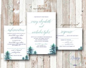Rustic Forrest wedding Invitation