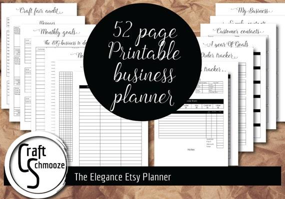 """Etsy Planner, Style-""""Elegance"""", business planner, Etsy Business, Planner, Printable planner, Small business, Etsy shop, shop planner"""