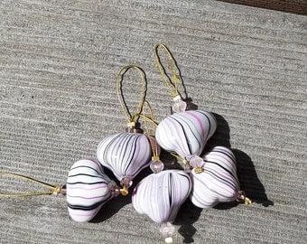 Knitting heart no-snag stitch markers