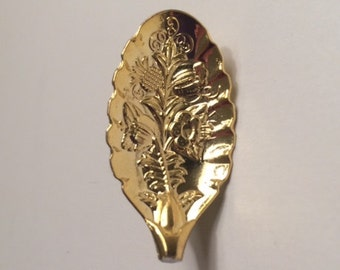 Gold-Toned Decorative Spoon Brooch