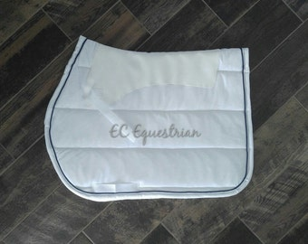 Non-Slip AP/Dressage Saddle Pad w/Piping