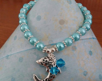 Stretch Dolphin charm bracelet