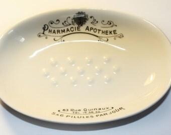 Pharmacie Apotheke Ceramic Soap Dish