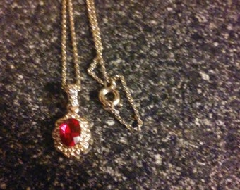 """Vintage """"RMN"""" Ruby and Diamond Necklace"""