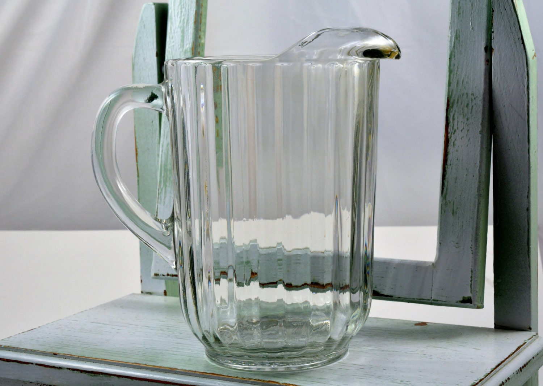 national clear jeannette glass pitcher beer pitcher. Black Bedroom Furniture Sets. Home Design Ideas