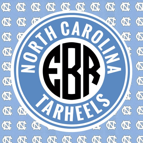 north carolina tarheels monogram frame cutting by olsouthdesigns