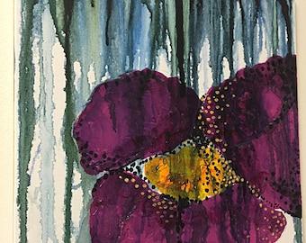 Original Floral Acrylic/Gouache Painting