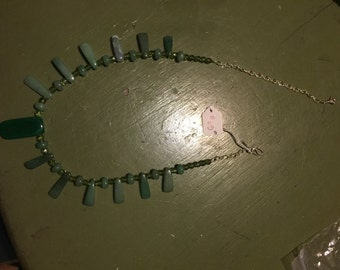 Jadeite and spinel necklace