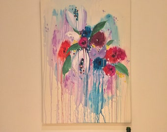Original floral art - one of a kind