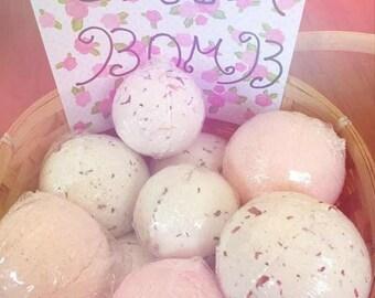 Handmade Orangic Rose Bath Bomb Made in U.S.A