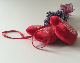 Two-Hearts Lavender Sachets