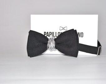 Papillon Italian Handmade 100% aluminum Center black-Made in Italy-Bowtie