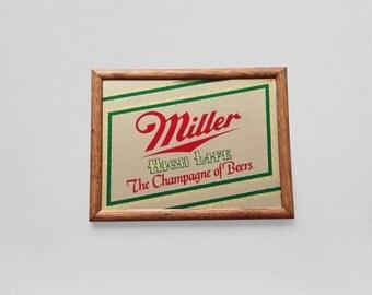 Miller High Life Glitter Beer Mirror Art