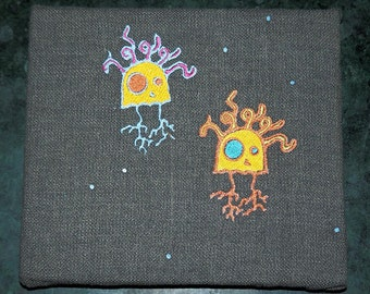 Alien Jellyfish Embroidery Artwork