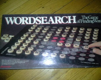 vintage 1988 word search board game