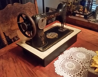 1908 Singer Sewing Machine Display
