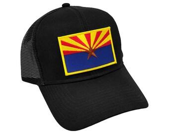 Arizona US State Flag Patch Trucker Mesh Adjustable Snapback Baseball Cap Hat