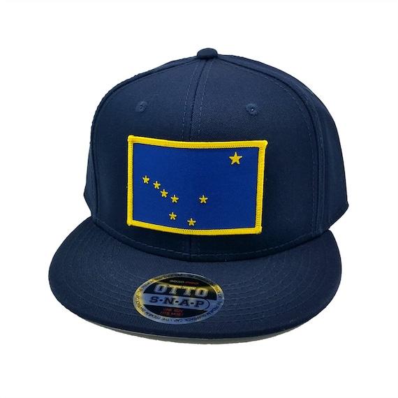 alaska us state flag patch flat bill snapback baseball cap hat