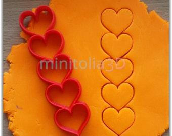 Multi Stick Hearts Cookie Cutter
