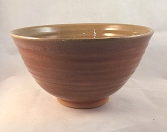 Natural Brown Stoneware Bowl